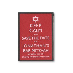 Keep Calm Save the Date Card