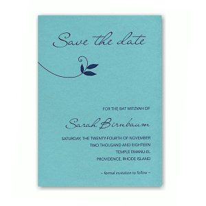 Lush Save the Date Card Sample
