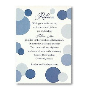 Mod Dots in Blue Bat Mitzvah Invitation icon