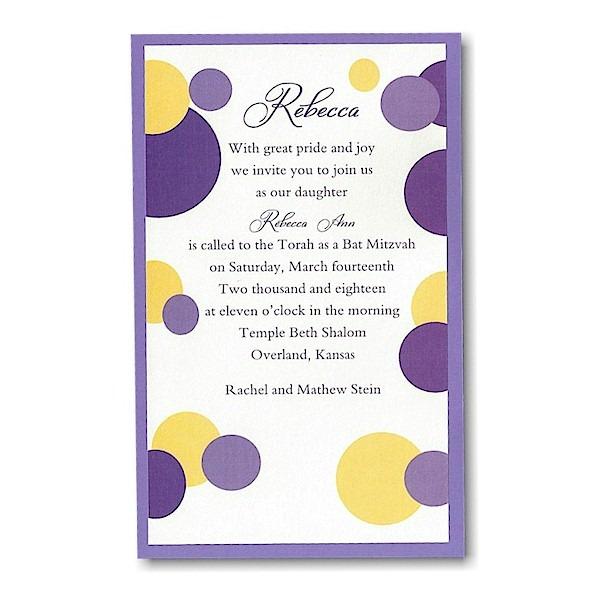 Mod Dots in Purple Layered Bat Mitzvah Invitation icon