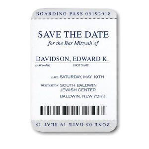 Passport Save the Date Card Sample