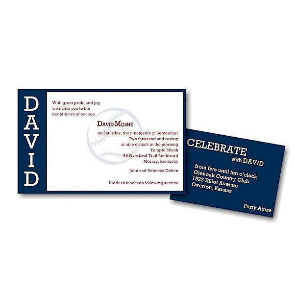 Perfect Pitch in Navy Bar Mitzvah Invitation alt