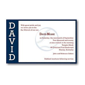 Perfect Pitch in Navy Bar Mitzvah Invitation Sample
