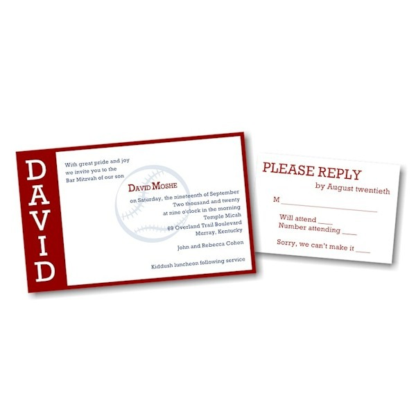 Perfect Pitch in Red Bar Mitzvah Invitation