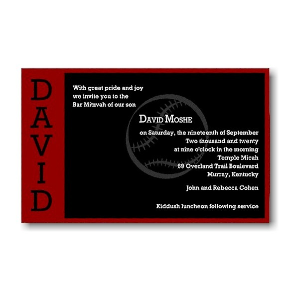 Perfect Pitch in Red and Black Bar Mitzvah Invitation icon