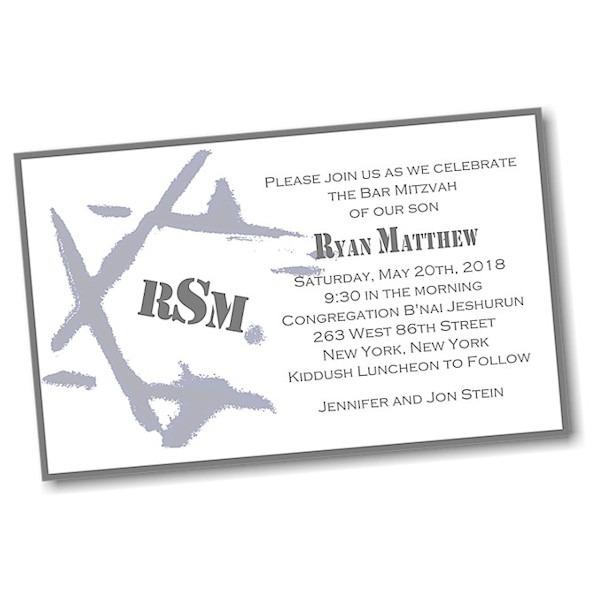 Ryan Matthew J Layered Bar Mitzvah Invitation alt