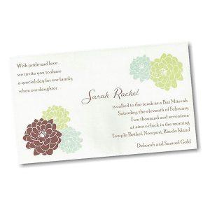 Sarah Rachel Bat Mitzvah Invitation alt