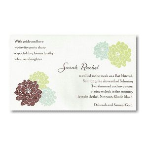 Sarah Rachel Bat Mitzvah Invitation