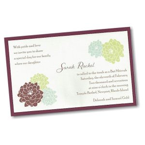 Sarah Rachel Layered Bat Mitzvah Invitation alt