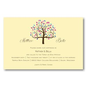Tree of Life Bnot Mitzvah Invitation