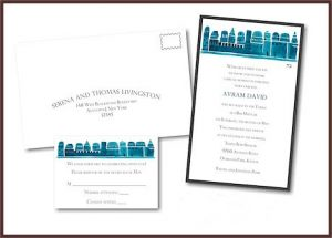 Avram David Layered Bar Mitzvah Invitation