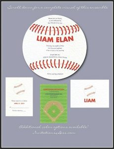 Baseball Bar Mitzvah Invitation Ensemble
