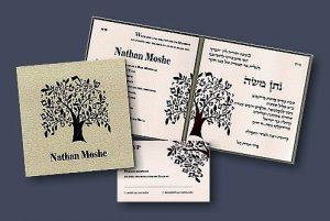 Blessing Tree Bar Mitzvah Invitation