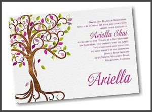 Blooming Tree Bat Mitzvah Invitation