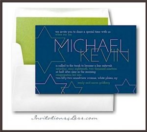 Bold Stars Bar Mitzvah Invitation