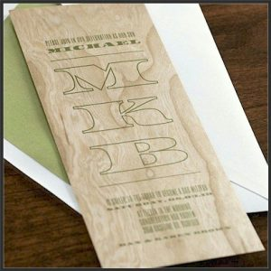 Carved Bar Mitzvah Invitation