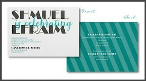 Celebrating Big Bar Mitzvah Invitation