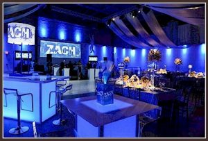 Clubbing Bar Mitzvah Decor