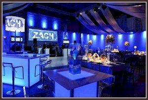 Clubbing Bar Mitzvah Decor