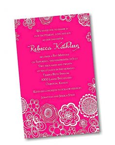 Create Your Own Bat Mitzvah Invitation Suite 70B