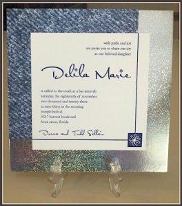 Denim and Diamonds Bat Mitzvah Invitation