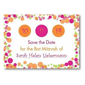 Dotted Dates Save the Date Card Sample