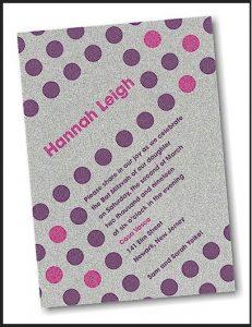 Glam Dots Bat Mitzvah Invitation