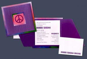 Hippie Chic Bat Mitzvah Invitation