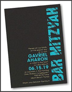 Mitzvah Lines Bar Mitzvah Invitation