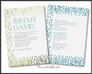 Mitzvah Pattern Dots Bar Mitzvah Invitation