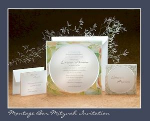 Montage Bat Mitzvah Invitation