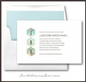 Prismatic Bar Mitzvah Invitation