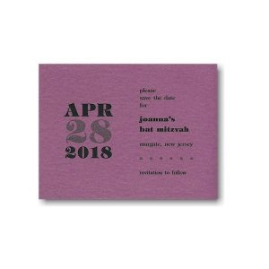 Punch Shimmer Save the Date Card