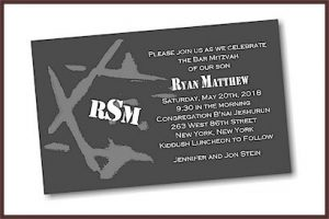 Ryan Matthew Bar Mitzvah Invitation