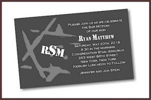 Ryan Matthew Bar Mitzvah Invitation
