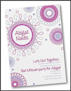 Spiral Spectacular Bat Mitzvah Invitation
