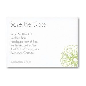Sprightly Save the Date Card Sample