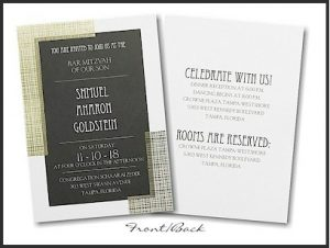 Subtle Pattern Bar Mitzvah Invitation