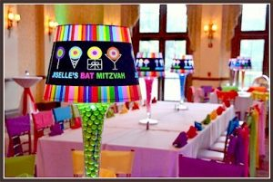 Sweet and Colorful Bat Mitzvah Decor