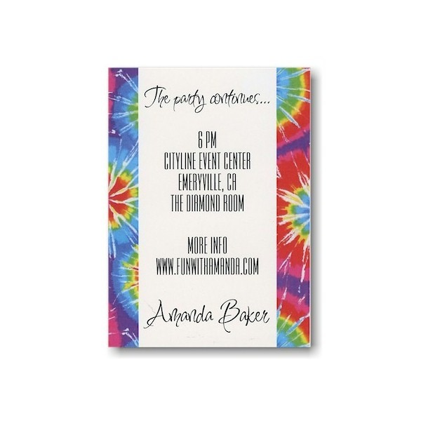 Tie Dye Save the Date Card Sample