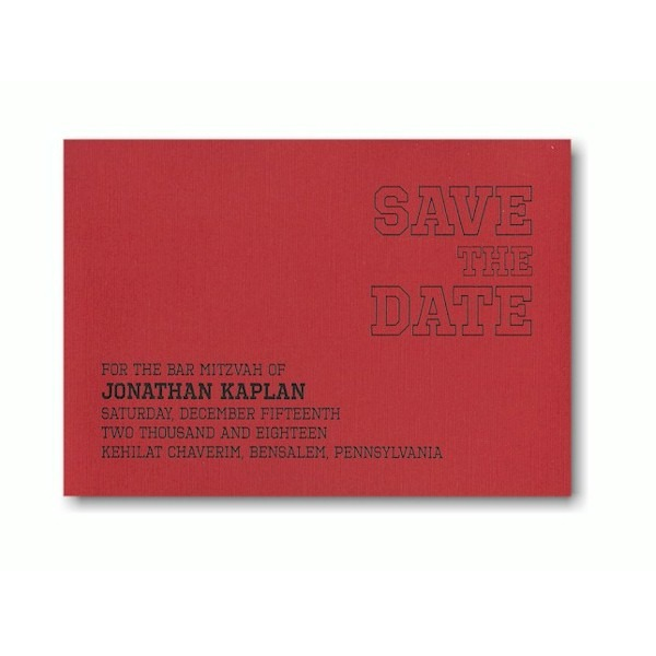 Triumph Save the Date Card