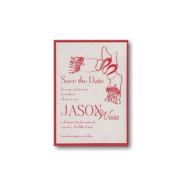 True Tallit Save the Date Card