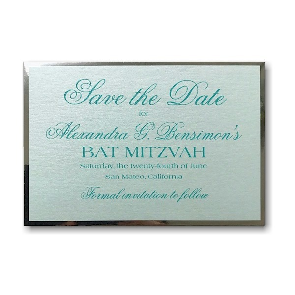 Truly Yours Save the Date Card Sample