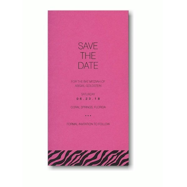 Urban Safari Save the Date Card Sample