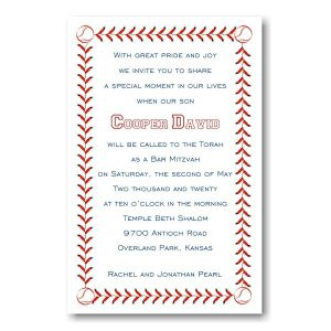 Baseball Bar Mitzvah Invitation Icon
