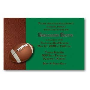 Football Bar Mitzvah Invitation