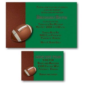 Football Bar Mitzvah Invitation alt