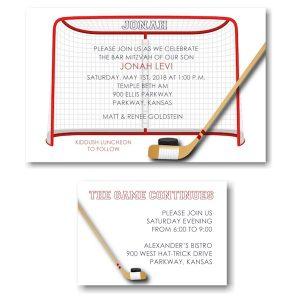 Ice Hockey Bar Mitzvah Invitation alt