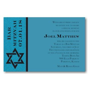 Joel Matthew Bar Mitzvah Invitation