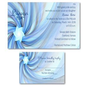Liana Bat Mitzvah Invitation alt